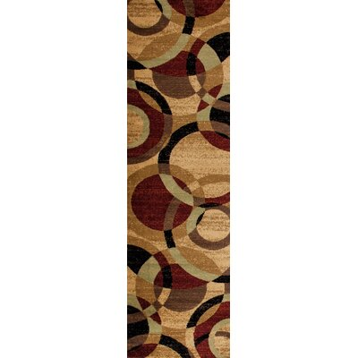 Allison Black/Burgundy Area Rug Rug Size: Rectangle 53 x 73