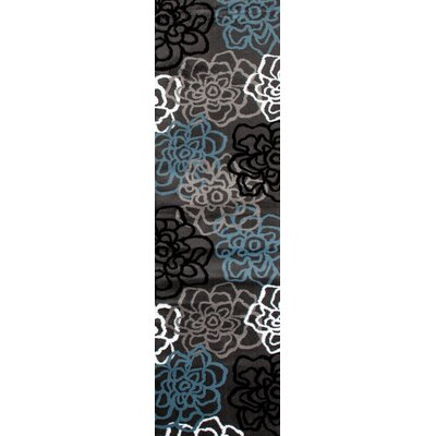 Shiflett Gray Area Rug Rug Size: Runner 2 x 72