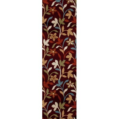 Sharen Burgundy Area Rug Rug Size: Runner 2 x 8