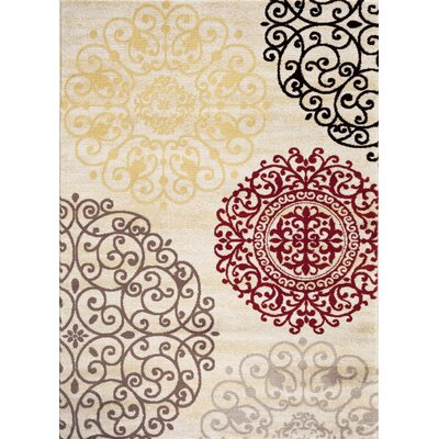 Ingaret Cream Area Rug Rug Size: Rectangle 2 x 3