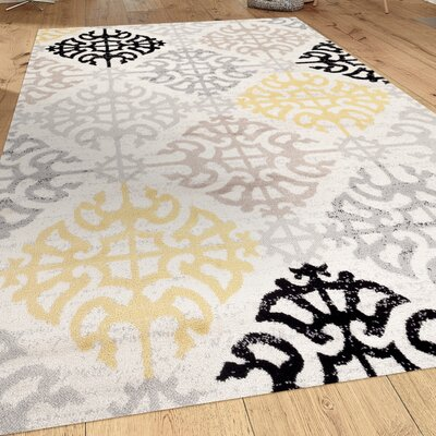 Wabon Gray Area Rug Rug Size: Rectangle 2 x 3