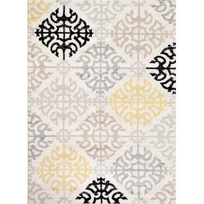 Wabon Gray Area Rug Rug Size: 710 x 102