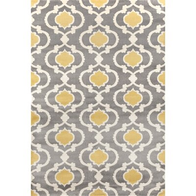 Melrose Gray Area Rug Rug Size: Rectangle 53 x 73