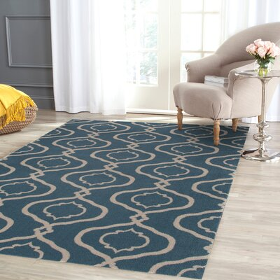 Coffman Rectangle Blue Area Rug Rug Size: 2 x 3