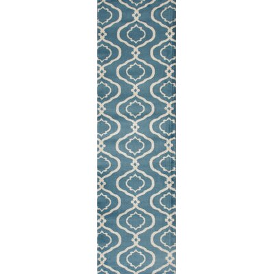 Coffman Rectangle Blue Area Rug Rug Size: Runner 2 x 72