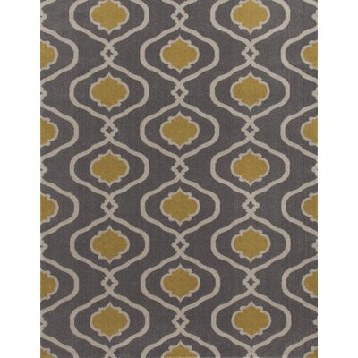 Coffman Gray/Yellow Area Rug Rug Size: Rectangle 710 x 102