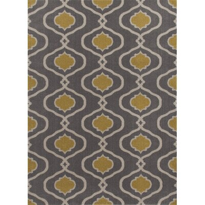 Coffman Gray/Yellow Area Rug Rug Size: Rectangle 9 x 12