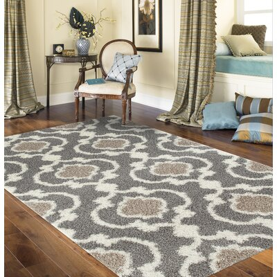 Hegwood Gray Area Rug Rug Size: Rectangle 9 x 12