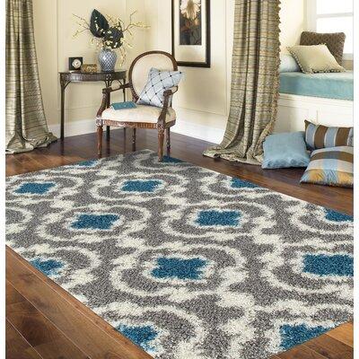 Hegwood Gray/Turquoise Area Rug Rug Size: 710 x 10