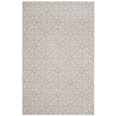 Mahoney Hand-Tufted Ivory/Gray Area Rug Rug Size: Round 6 x 6