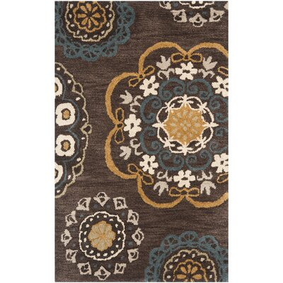 Matthews Brown Tufted Area Rug Rug Size: 5 x 8