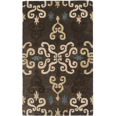Matthews Brown Florals Area Rug Rug Size: Rectangle 4' x 6'
