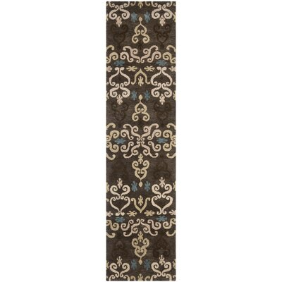 Evansville Brown Area Rug Rug Size: Runner 23 x 9