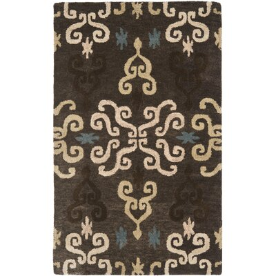 Matthews Brown Florals Area Rug Rug Size: Rectangle 3 x 5