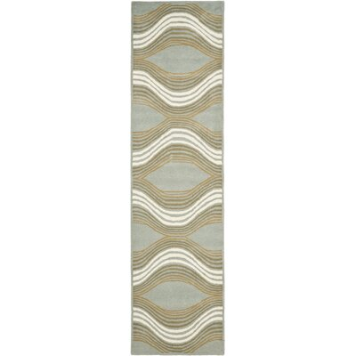 Cateline Blue Area Rug Rug Size: Runner 23 x 11