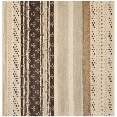 Matthews Ivory Area Rug Rug Size: Square 7