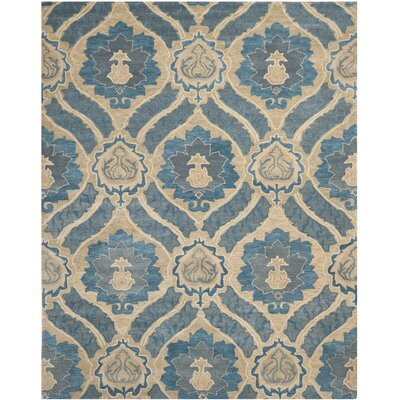 Matthews Blue/Ivory Area Rug Rug Size: Rectangle 89 x 12