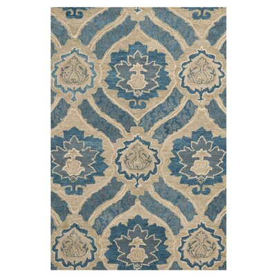 Matthews Blue/Ivory Area Rug Rug Size: Rectangle 3 x 5