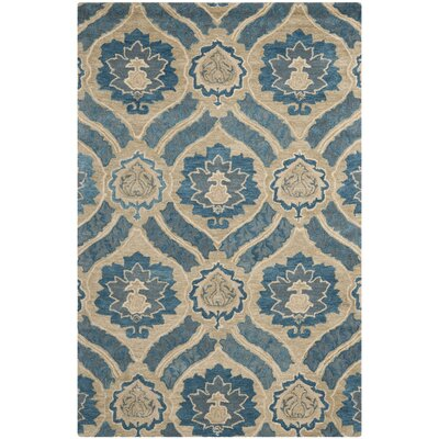 Matthews Blue/Ivory Area Rug Rug Size: Rectangle 6 x 9