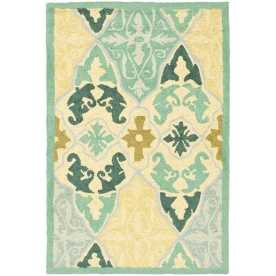 Martin Blue/Ivory Area Rug Rug Size: Rectangle 53 x 83