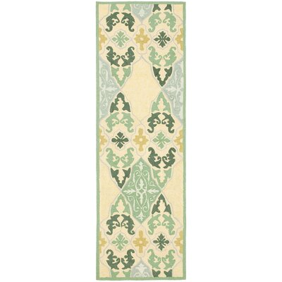 Erie Blue/Ivory Area Rug Rug Size: Runner 26 x 8