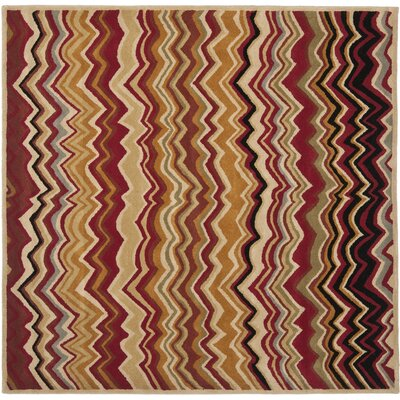 Tanner Red / Multi Rug Rug Size: Square 7