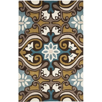 Matthews Blue / Multi Rug Rug Size: Rectangle 4 x 6