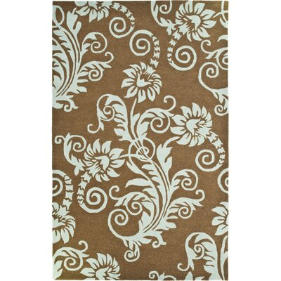 Armstrong Light Brown / Light Blue Contemporary Rug Rug Size: Rectangle 76 x 96
