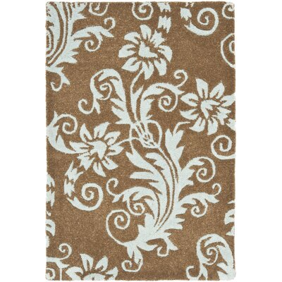 Armstrong Light Brown / Light Blue Contemporary Rug Rug Size: Scatter / Novelty Shape 2 x 3