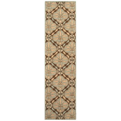Martin Brown / Blue Area Rug Rug Size: Runner 26 x 10