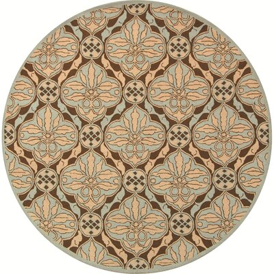 Martin Brown / Blue Area Rug Rug Size: Round 56