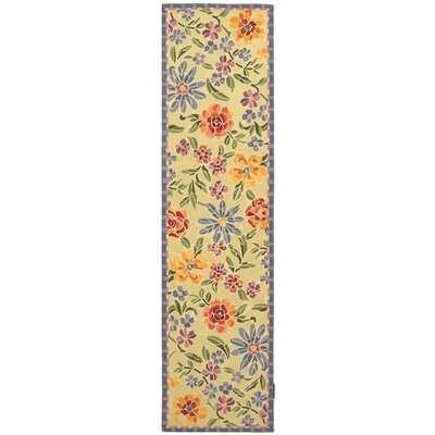 Bordeaux Butter / Blue Meadow Area Rug Rug Size: Runner 26 x 8