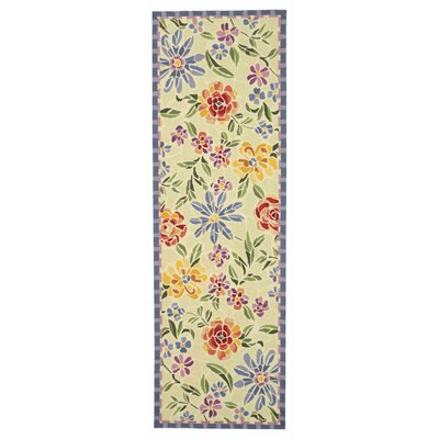 Erie Butter / Blue Meadow Area Rug Rug Size: Runner 26 x 8