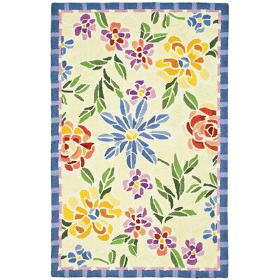 Bordeaux Butter / Blue Meadow Area Rug Rug Size: Rectangle 29 x 49