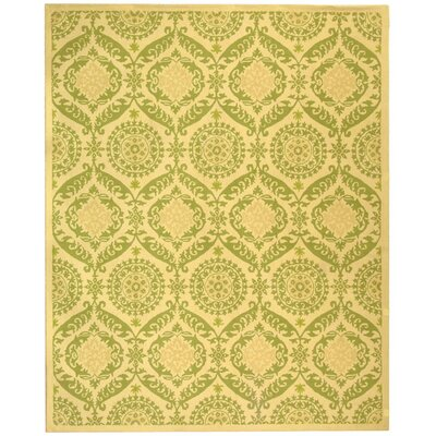 Nesbitt Beige/Green Rug Rug Size: Rectangle 89 x 119