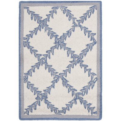 Martin Ivory & Blue Wilton Trellis Area Rug Rug Size: Rectangle 53 x 83