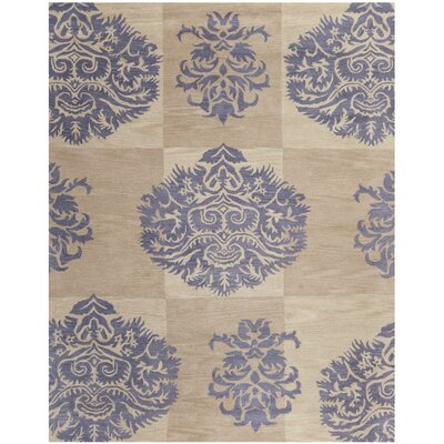 Matthews Beige/Lavender Area Rug Rug Size: Rectangle 26 x 4