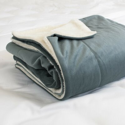 Walworth Sherpa Throw Blanket Color: Gray