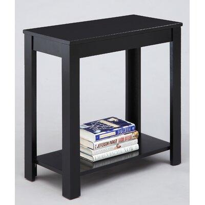 Waterloo Chairside Table Finish: Black