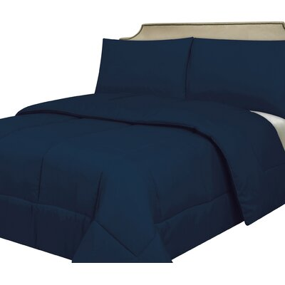 Waveland Comforter Size: Twin, Color: Navy