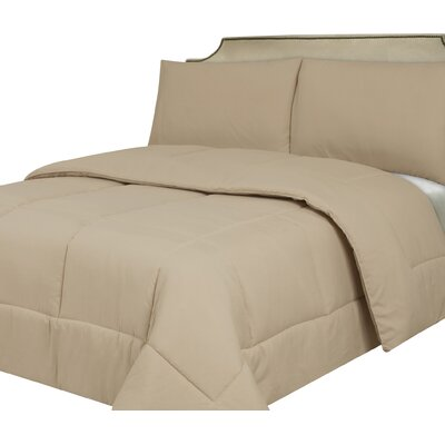 Waveland Comforter Size: King, Color: Cream