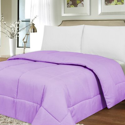 Waveland Comforter Size: King, Color: Lavender