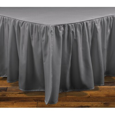 Stream Bed Skirt Color: Grey, Size: King