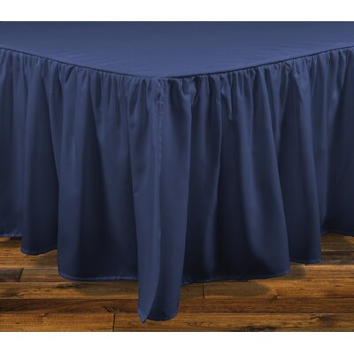 Stream Bed Skirt Color: Navy, Size: Queen