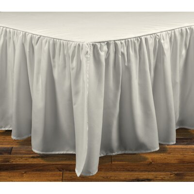 Stream Bed Skirt Color: Ivory, Size: King