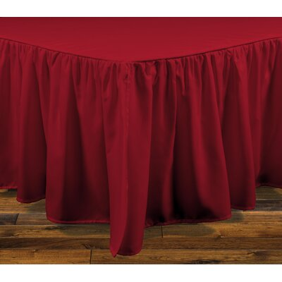 Stream Bed Skirt Color: Red, Size: Twin