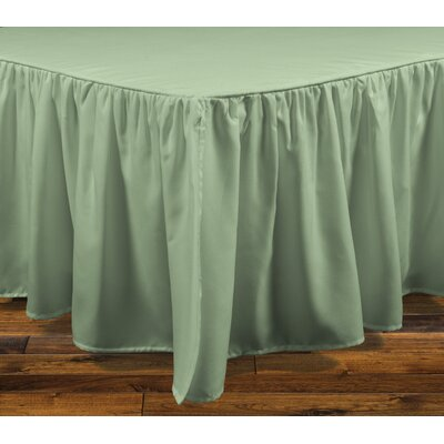 Stream Bed Skirt Color: Sage, Size: King