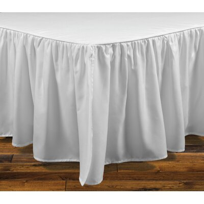 Stream Bed Skirt Color: White, Size: King