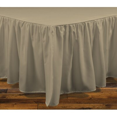 Stream Bed Skirt Size: Queen, Color: Linen