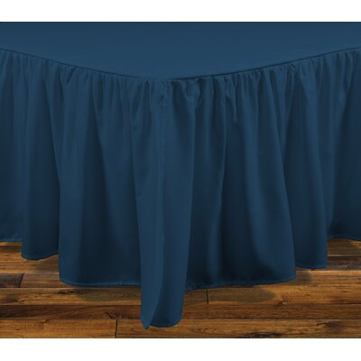 Stream Bed Skirt Size: King, Color: Teal